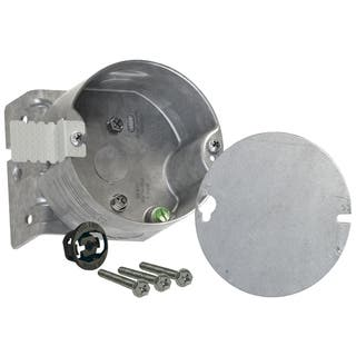 Raco 4 in. H Round 2 Gang Fan Box 1/2 in. Gray Steel|https://ak1.ostkcdn.com/images/products/11819596/P18725601.jpg?impolicy=medium