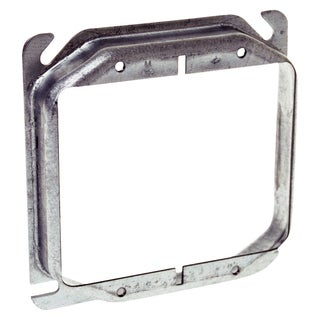 "Hubbell Raco 8769 4"" Square Double Gang Raised Cover"