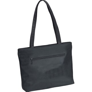 Goodhope Black Basic Style with Front Zip Pocket Ladies Tote