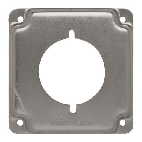 Raco Square Steel Electrical Cover For 1 Receptacle Gray