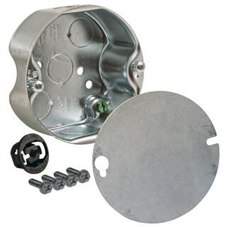 Raco 4-1/4 in. H Round 1 Gang Fan Box 1/2 in. Gray Steel