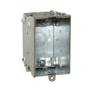 Hubbell Raco 528 Single Gang Switch Box With Clamps