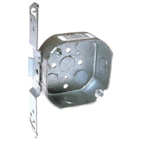 Raco 7 in. H Octagon 1 Gang Junction Box 1/2 in. Gray Steel
