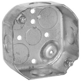Raco 4 in. H Octagon 1 Gang Junction Box 1/2 in. Gray Steel