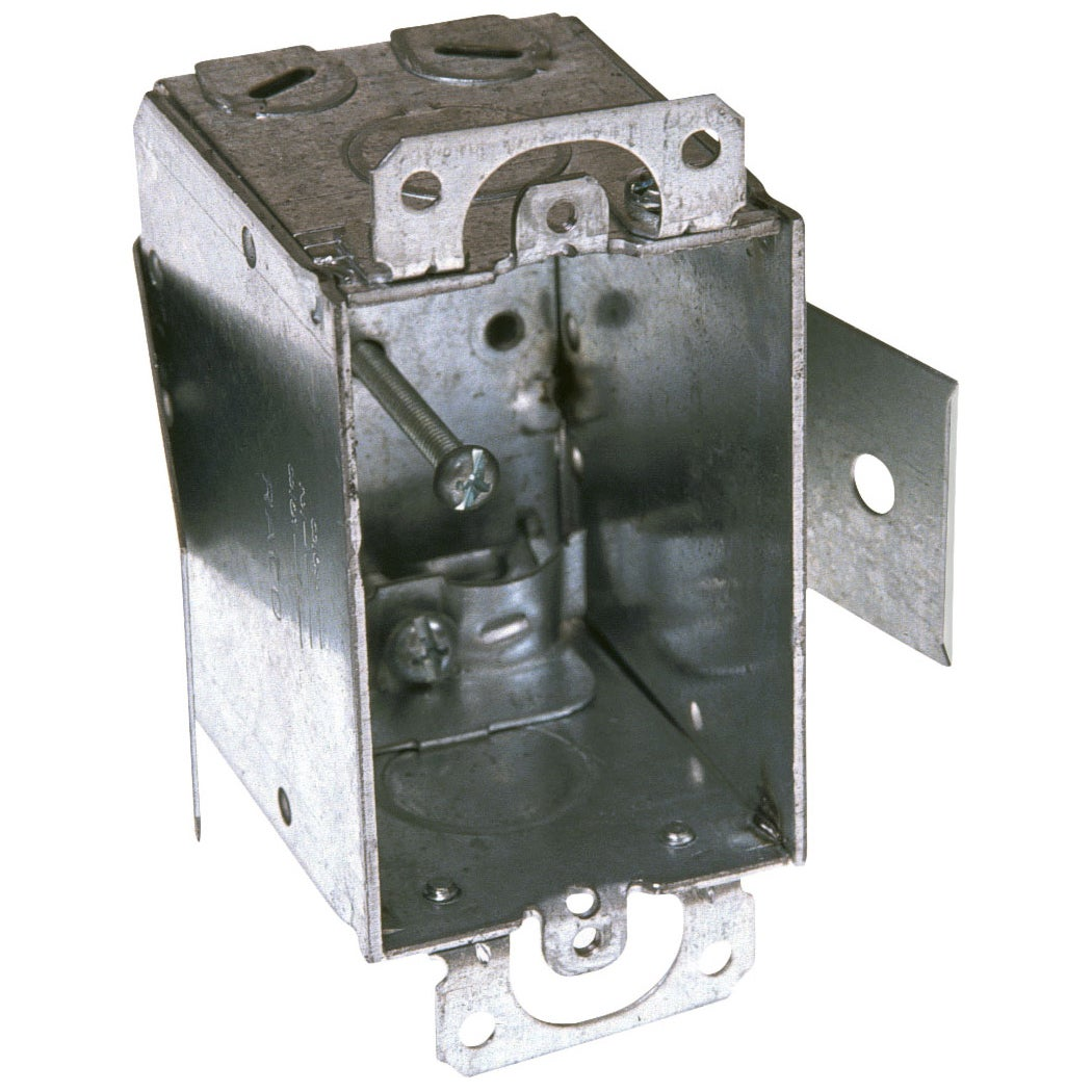 Hubbell Raco 3 in. H Rectangle 1 Gang Switch Box 1/2 in. ...