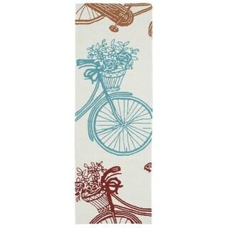 Indoor/Outdoor Beachcomber Bicycle Multi Rug (2'0 x 6'0)