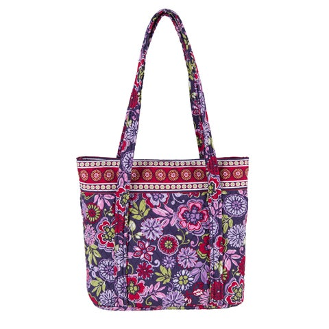 Zoe Large Multicolored Quilted Cotton Floral Tote Bag
