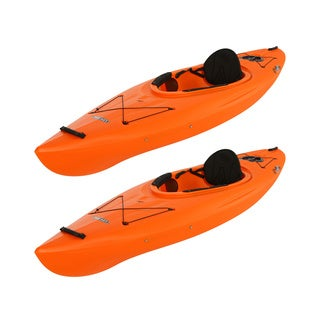 Lifetime Arrow Sit-Inside Orange Plastic Kayak (2 pack)