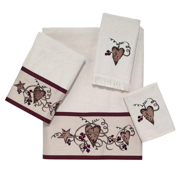 Hearts and Stars 4-piece Towel Set