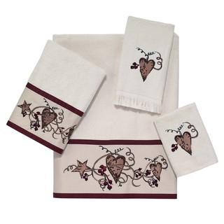 Hearts and Stars 4-piece Towel Set