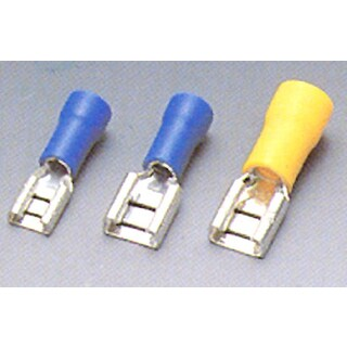 Calterm 61320 12-10 AWG Yellow Female Disconnects 16-count