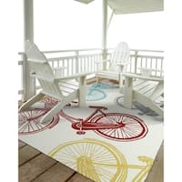 Indoor/Outdoor Beachcomber Bicycle Multi Rug - 7'6 x 9'