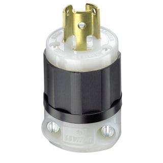 Leviton 061-4720C 15 Amp 3W, 2P NEMA L5-15P Locking Plug