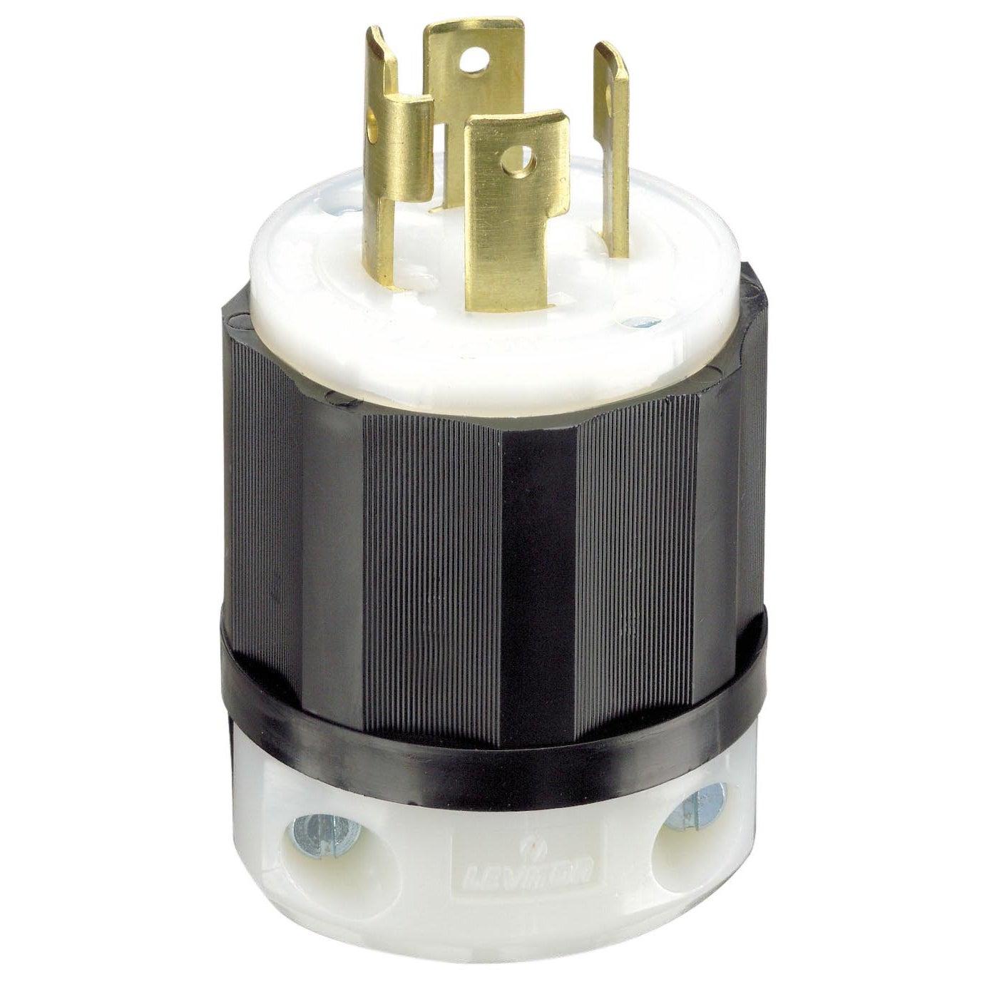 Leviton 061-2711 30 Amp 4W, 3P Nema L14-30P Locking Plug ...