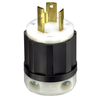 Leviton 061-2611 30 Amp 3W, 2P NEMA L5-30P Locking Plug