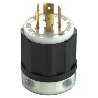 Leviton 061-2421-0 20 Amp 4W, 3P NEMA L15-20P Locking Plug