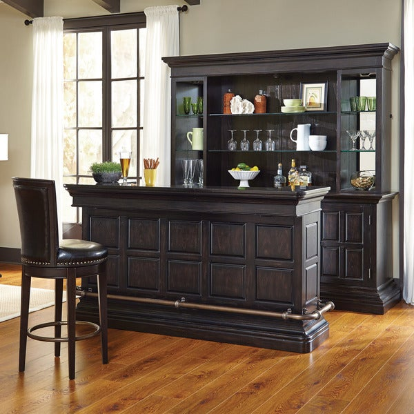 Black Home Bar Furniture: Shop Mancino Wood And Granite Bar In Dark Cherry