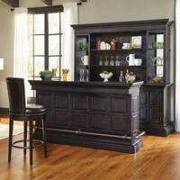 Mancino Wood and Granite Bar in Dark Cherry