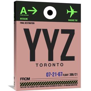 Naxart Studio 'YYZ Toronto Luggage Tag 2' Stretched Canvas Wall Art