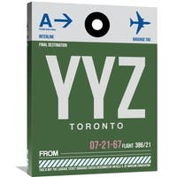 Naxart Studio 'YYZ Toronto Luggage Tag 1' Stretched Canvas Wall Art