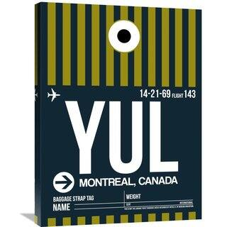 Naxart Studio 'YUL Montreal Luggage Tag 1' Unframed Stretched Canvas Wall Art