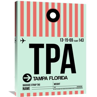 Naxart Studio 'TPA Tampa Luggage Tag 1' Stretched Canvas Wall Art