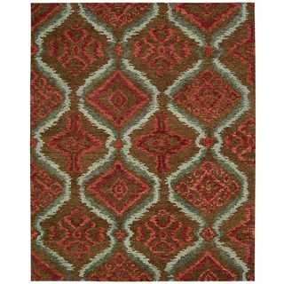 Nourison Tahoe Modern Brown/Red Rug (8'6 x 11'6)
