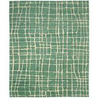 Nourison Tahoe Modern Turquoise/Green Rug - 7'9 x 9'9