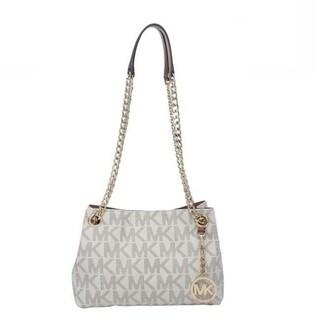Michael Kors Jet Set Medium Vanilla Logo Crossbody Handbag