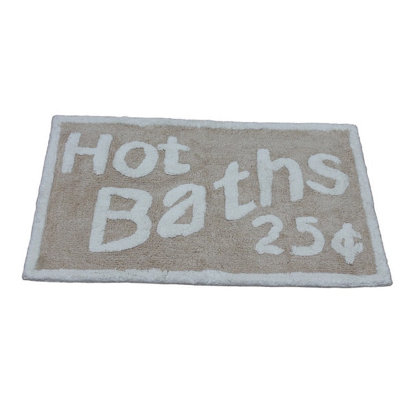 'Hot Baths 25-Cents' Bath Rug (21 inches x 34 inches)