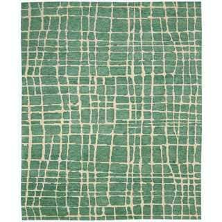 Nourison Tahoe Modern Turquoise/Green Rug (8'6 x 11'6)