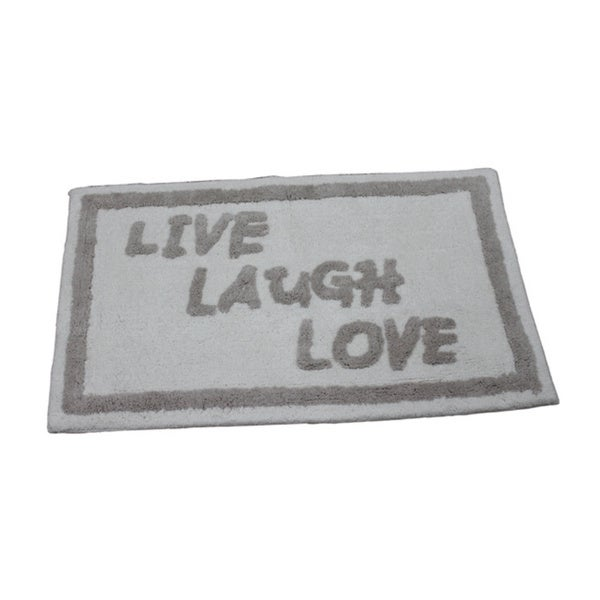 'Live, Laugh, Love' Bath Rug (21 inches x 34 inches)