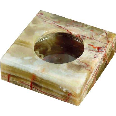 Visol Sugilite Beige Onyx Stone Cigarette Ashtray with 2 Cigarette Rests