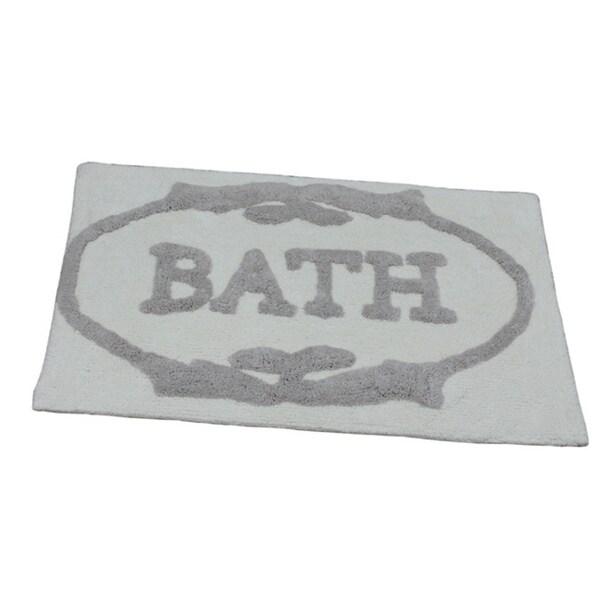 'Bath Typograhy' Bath Rug (21 inches x 34 inches)
