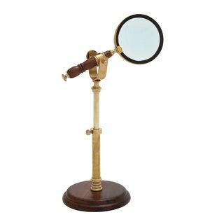 Distinctive Brass Wood Magnifier