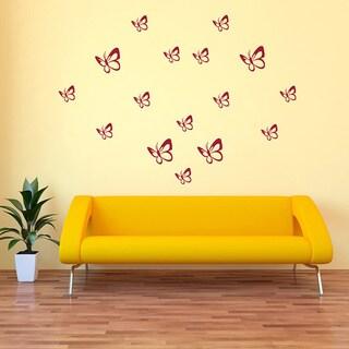 Butterflies Set 2 Vinyl Decal Wall Art