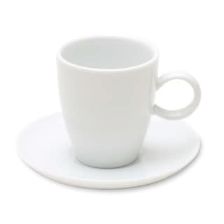 TAG Whiteware Espresso Cup and Saucer (Set of 4)
