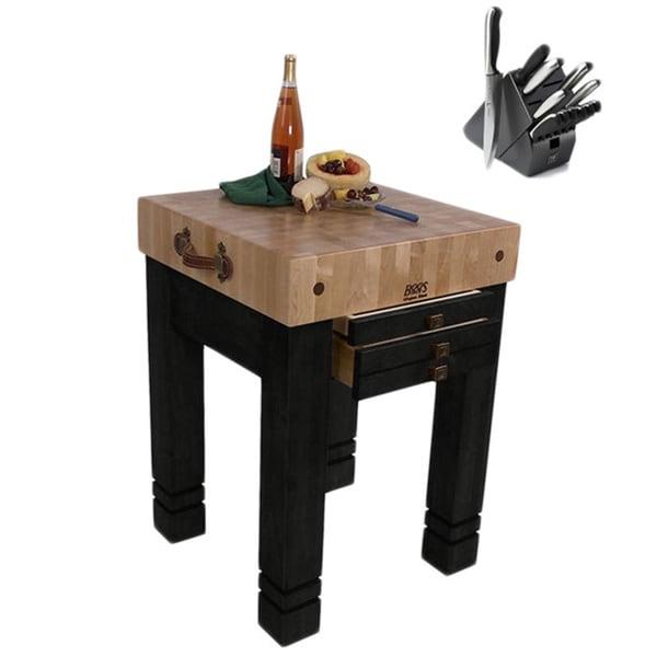 John Boos CU SB2424 BK Steamer Black 24 X 24 Table With Bonus 13