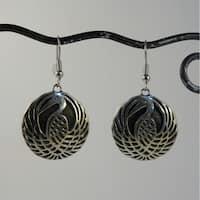 Handmade Spirit Swinging Stork Dangle Earrings (Indonesia)
