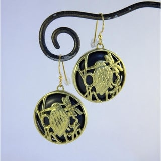 Spirit Tribal Fusion Heron Dragonfly Earrings (Indonesia)