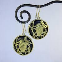Handmade Spirit Tribal Fusion Heron Dragonfly Earrings (Indonesia)