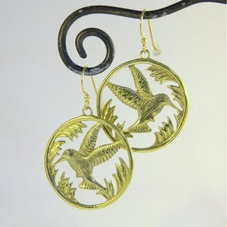 Spirit Picaflora Hummingbird Earrings (Indonesia)