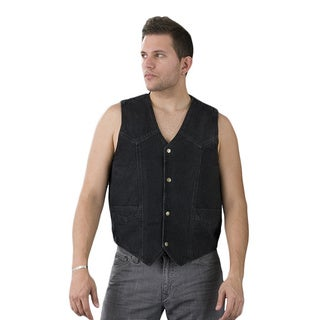 MEN'S Denim Cotton 14.5-ounce Single-panel Back Vest