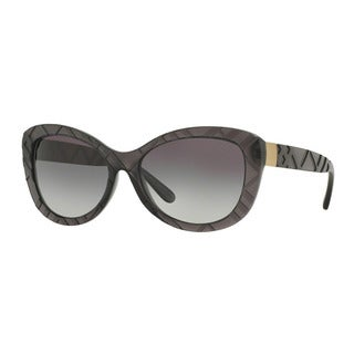Burberry Women's BE4217 35818G Grey Plastic Butterfly Sunglasses