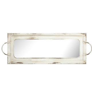 Amelia 36.5-inches X 12.5-inches Mirrored Tray With Handles