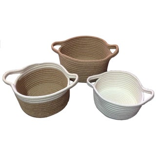Set of 3 Jute Baskets