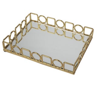 12 x 9 x 2-inch Mirrored Gallery Tray