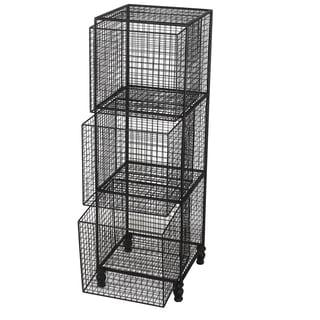 Botana 12 x 12 x 37-inch Wire Shelf With 3 Baskets