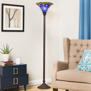 Tiffany-style Blue Star Torchiere