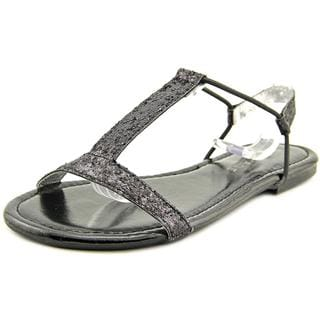 Rampage Women's Patience Black Faux-Leather Sandals